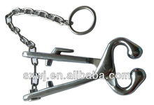 Veterinary bull holder/ cattle leaders/ Ox Nose Pincer With Chain