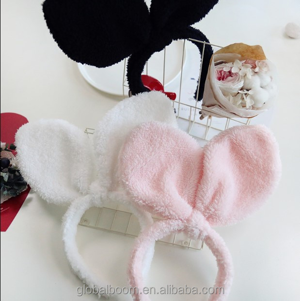 Lovely Rabbit Plush Wash Face Make up Headband