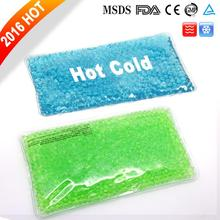 Reusable hot cold compress gel pack
