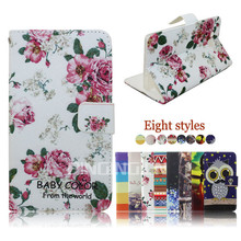 Colorful printed pu leather case flip cover for HTC Butterfly 3,mobile phone case for HTC Butterfly 3