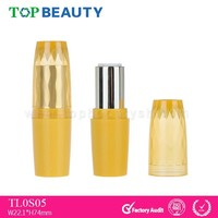 TL0S05-1 Customized Empty Plasic Shiny Gold Lipstick Container