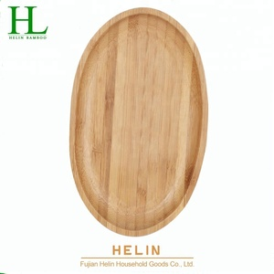 Bamboo oval dish tableware food plate