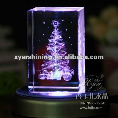 2012 new hot sale crystal laser christmas gifts