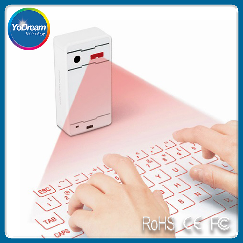 High Tech mini Wireless Bluetooth virtual Laser keyboard and mouse combo Portable Bluetooth Speaker for Huawei Mate 9 iphone 7s