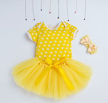 Baby Girls Yellow Chevron Clothing Clothes 1 Set Summer Sets with Ruffle