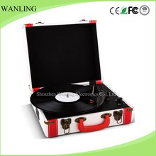 Factory supply OEM portable suitcase turntable usb sd bluetooth vinyl record player