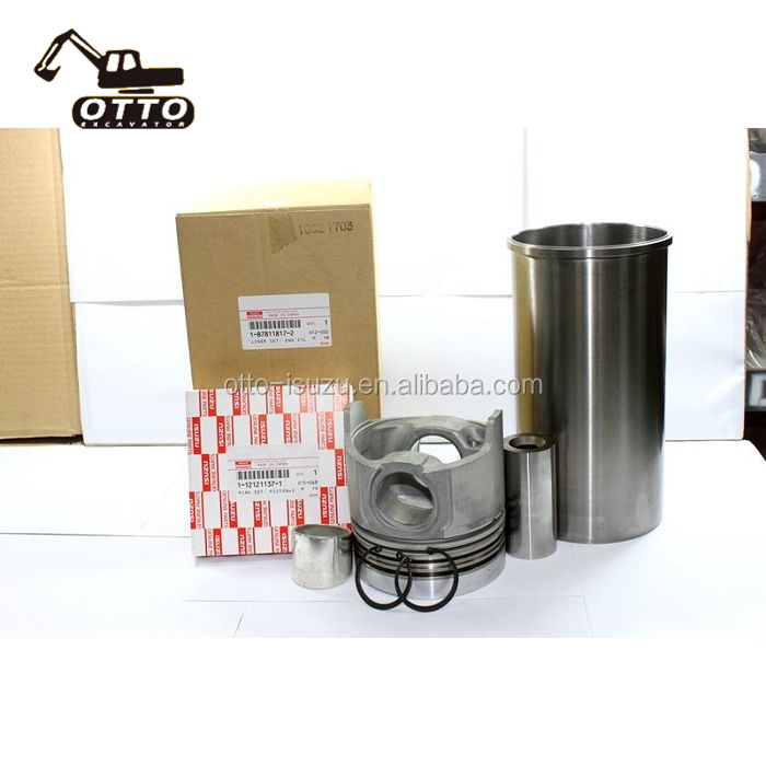 6BD1T <strong>Engine</strong> Cylinder Liner Kit For EX200 Diesel <strong>Engine</strong> Spare <strong>Parts</strong> 1-87811379-0