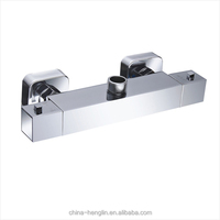 square high quality thermostatic bath shower mixer