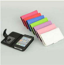 Laudtec New PU Leather flip case cover fit for iPhone 4G&4S