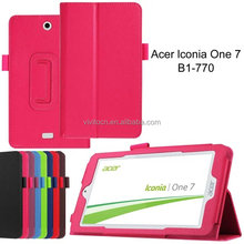 Wholesale book style flip pu leather tablet case cover for Acer Iconia One B1-770