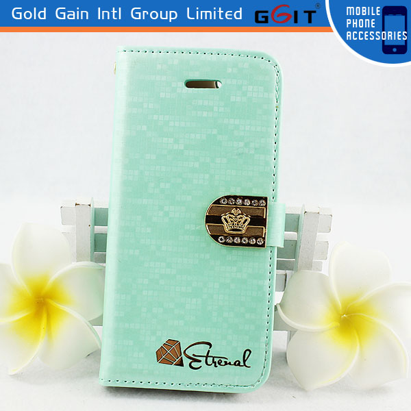Fashionable Water Cube Design Megnetic Leather Flip Cover For Samsung S3 I9300 With Stand Diamond Flip Case For Galaxy S3