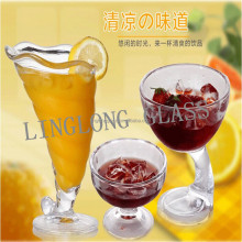 Supplies Ice Cream Glass Sundae Bowls 250ml Transparent Cup Ice Cream,Cup For Ice Cream
