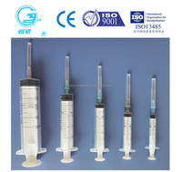 Medical disposable sterile syringe with needle