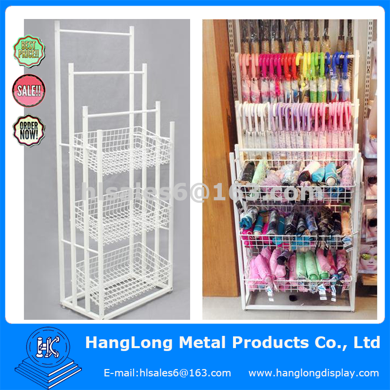 Raincoat and umbrella Metal display stand