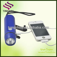Emergency hand crank dynamo mobile phone