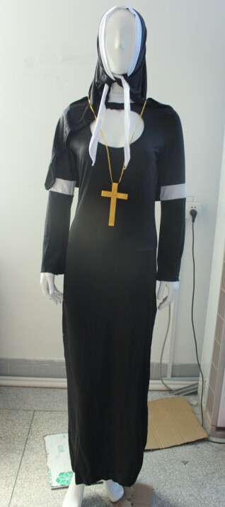 Instyles ladies nun sister naughty fancy dress costume sexy lingerie