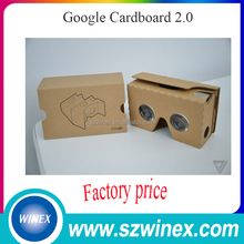"Cheap 3D VR Glasses Google Cardboard 2.0 Paper 3D Product for 3.5-6"" Smartphone"
