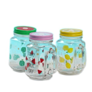 22oz Factory High Quality Jam Honey Glass Mason Jar With Handle