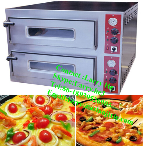 commercial pizza making machine/double layers pizza oven/pizza machine
