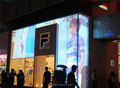 transparent glass led display p12