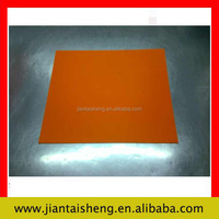 600x600x2mm orange large silicone rubber sheet