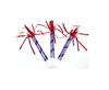 Purple Blow out dragon with red Tassels party birthday whistle for children