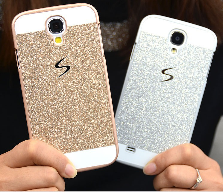 Bling Bling Glitter PC Hard Cover Case For Samsung Galaxy S4