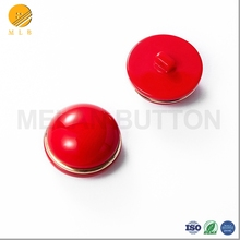 Round Shape 1 hole Red Color Big Size Resin Material Garment Button for Coat Sewing Scrapbooking Crafts Accessory