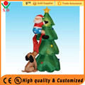Wholesale cheap customized inflatable christmas decorations ,8ft funny Santa and dog