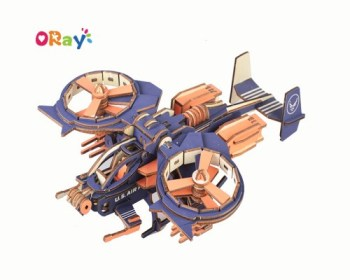 3d wooden puzzle craft handmade craft gift airplane model wooden puzzle toys