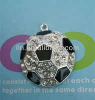 Rhinestone Football /Soccer Pendant Charm Wholesale -35mm