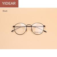 2017 Women Optical Nickel Alloy Fancy Metal Glasses Frames Men Vintage Round Eyeglasses Ladies Plain Glasses Myopia Frame