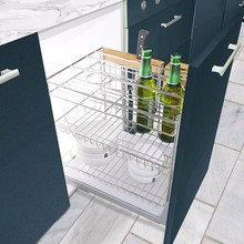 Wholesale Chromed-plated wire telescopic kitchen basket drawer