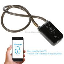 Durable Flexible Cable Bicycle Moto Security Lock Anti thief steel cable bike lock with APP