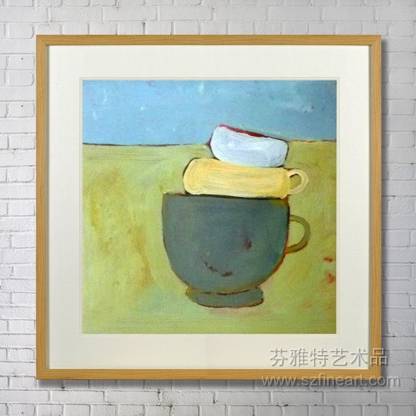 Home Hanging Wall cups cute design Art Paintings With Frame for bedroom