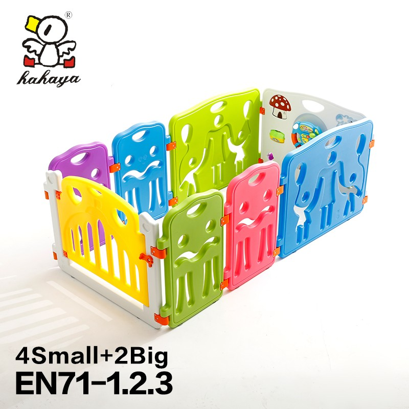 New Style Bright Multi-Color Plastic Children Safety Play Fence, Adjustable Baby Play Yard for Girls
