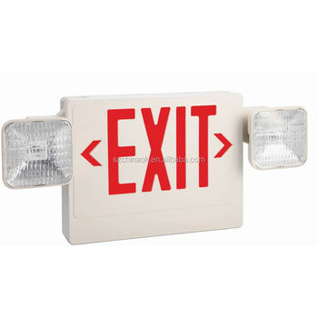 UL COMBO emergency exit sign light