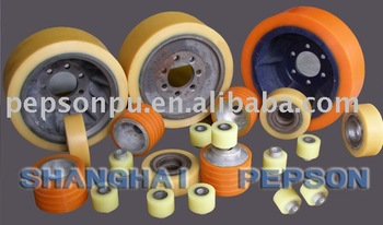 Customized PU Coated Rubber Wheel