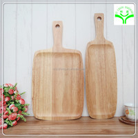 popular Large Square wooden Pizza Stone with handle strong unique design wooden pizza tray
