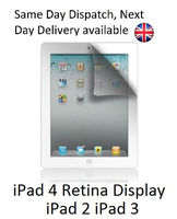 iPad 2 3 & 4 Retina Display Clear Screen Covers Protectors