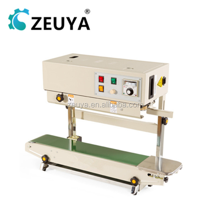 ZEUYA Vertical poly bag sealing machine/continuou band sealer CE Approved FR-900V