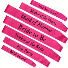 Hot Pink Sash Night Out Hen Party Sashes For Wedding Party Accessories