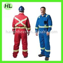 Hi vis orange safety winter frc 2 piece coverall