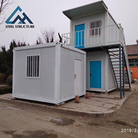 Luxury Modular Folding Prefab Expandable 20ft economical houses office Flat Pack Container House Price in South Africa
