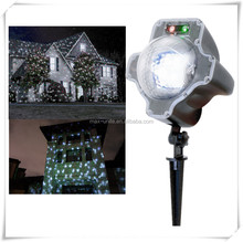 2018 new item outdoor waterproof ip44 DC 12 volt multi color led christmas snowfall garden laser light projector