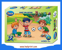 Hot Sale Educational Toy Kids Paper Jigsaw Puzzle Game Set