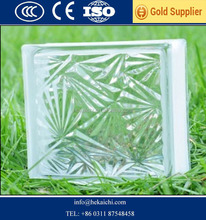 top quality Clear colored glass block brick 190 190 80MM with CE ISO Factory price