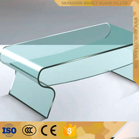 3mm 19mm Flat Bent Toughened Glass