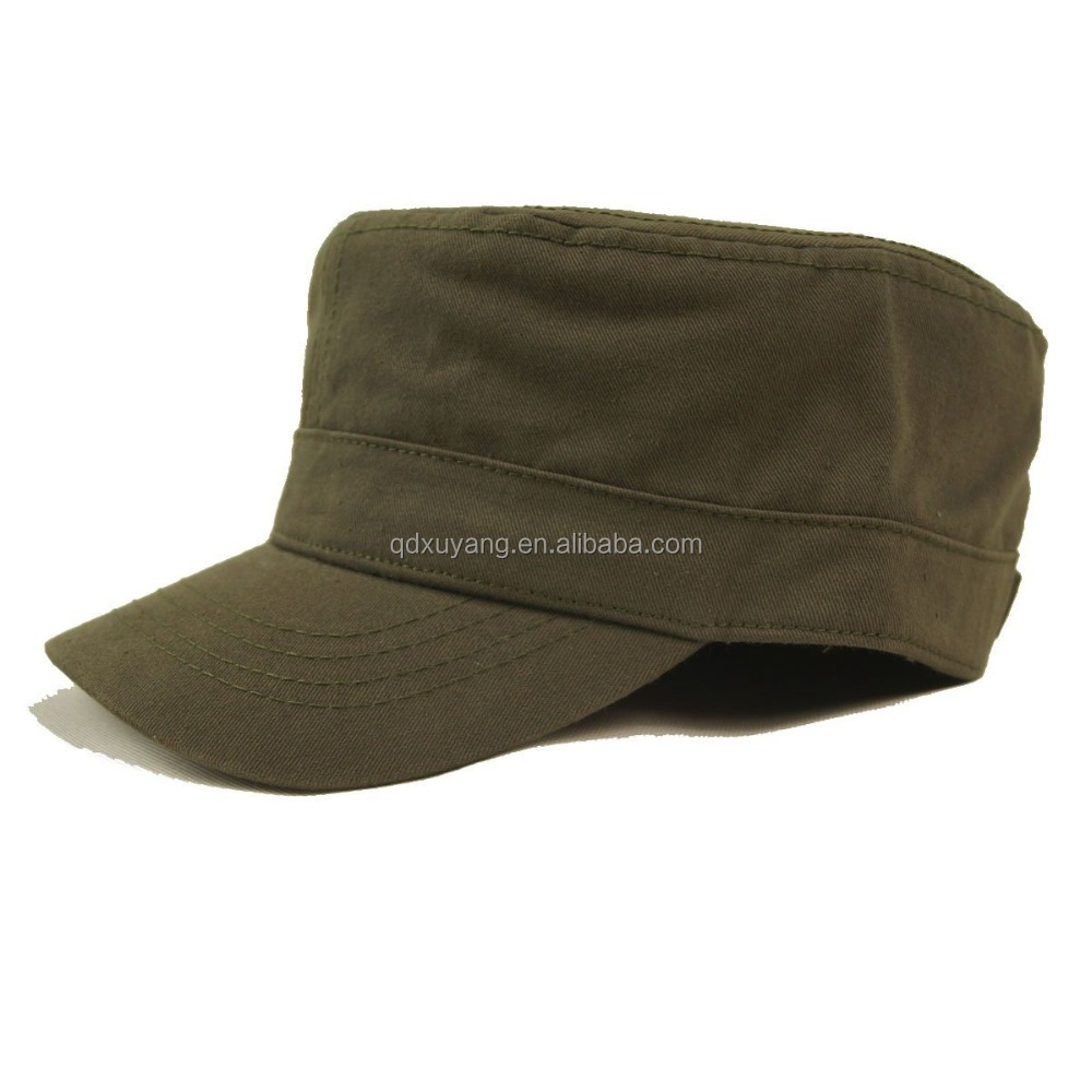cheap price cotton twill army cap military hat wholesale