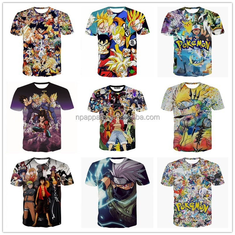 2016 Wholesale Japanese Anime Merchandise Print T-Shirt Cosplay Costume Tee